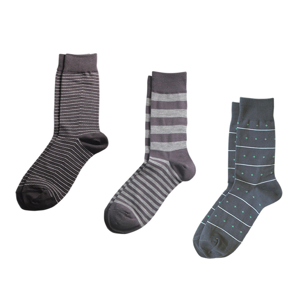 Richer Poorer Socks - Grey - 3-Pack