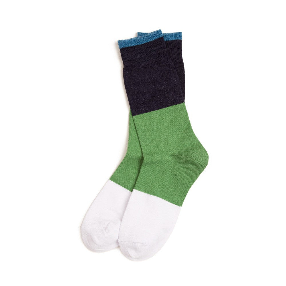 Richer Poorer Badlands Socks - Navy & Green