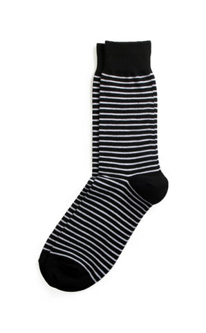 Richer Poorer - Veteran Black & White Socks