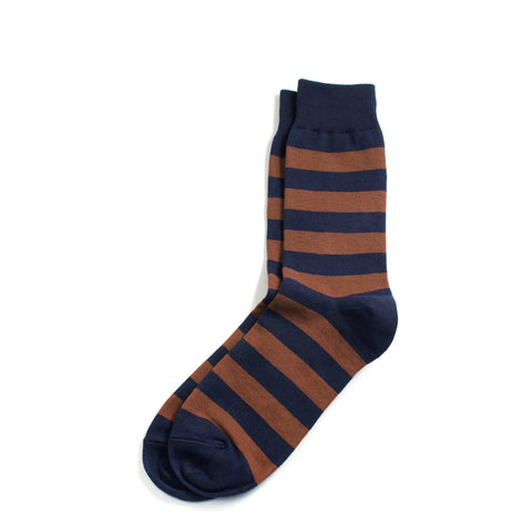 Richer Poorer - Walk On Brown & Navy Socks