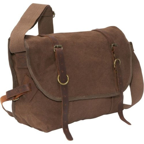 Rothco Vintage Canvas Explorer Shoulder Bag - Brown