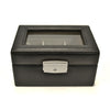Royce Leather Luxury 3-Slot Watch Box - Black