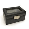 Royce Leather Luxury 3-Slot Watch Box - Black 2