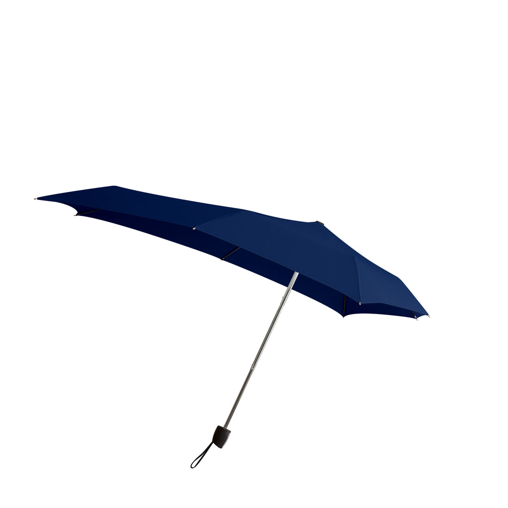 Senz Smart S Stormproof Folding Umbrella - Deep Blue