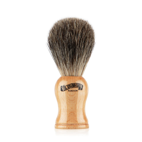 Mixed Badger Shaving Brush - Beech Wood