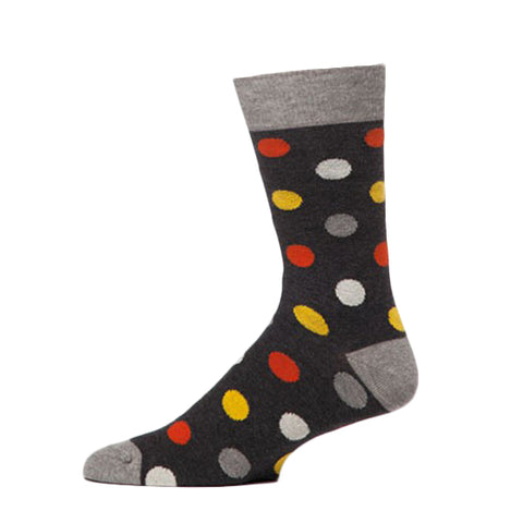 PACT Charcoal Dot Crew Socks