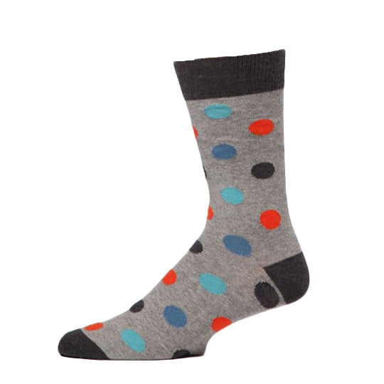 PACT Grey Dot Crew Socks