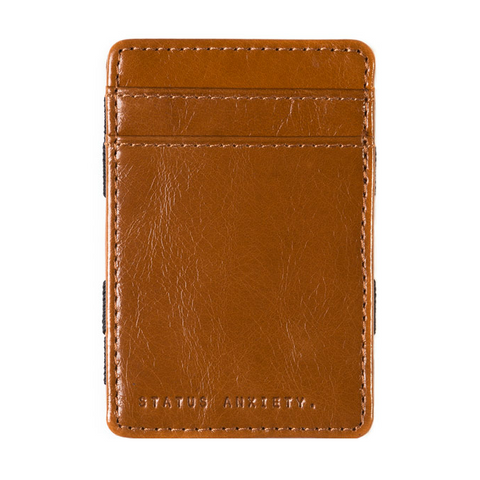 Status Anxiety Flip Magic Wallet - Tan