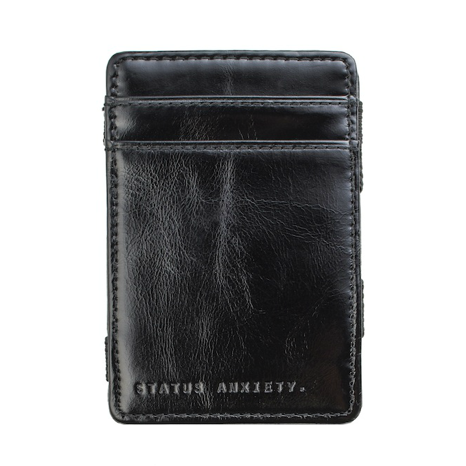 Status Anxiety Flip Magic Wallet - Black