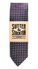 Sutter & Stockton Mason Navy Pin Dot Tie