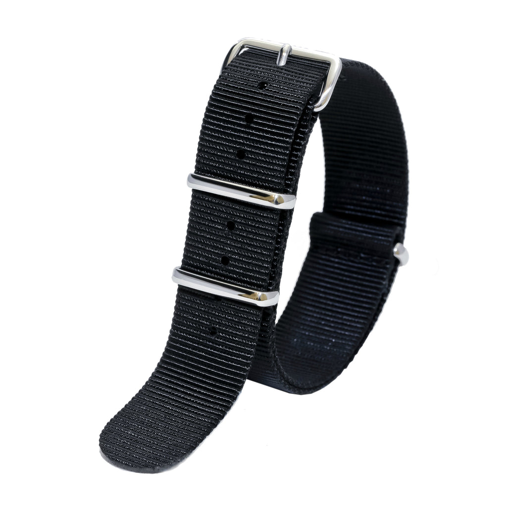 nato watch strap black sutter & stockton