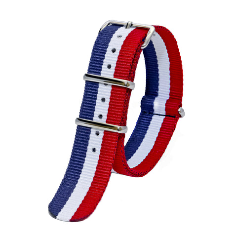 Sutter & Stockton - Military Watch Strap - Red, White, & Blue