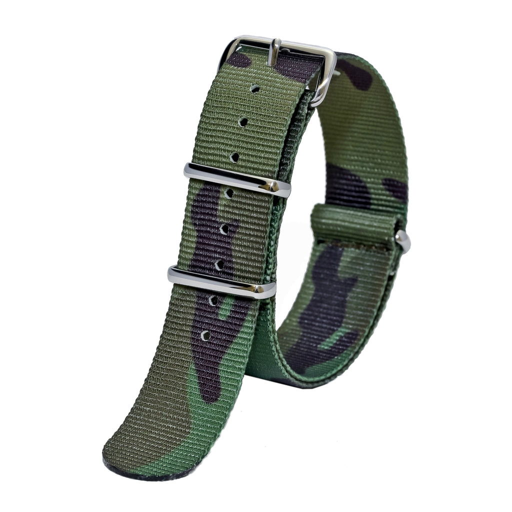 NATO watch strap forest camo sutter & stockton