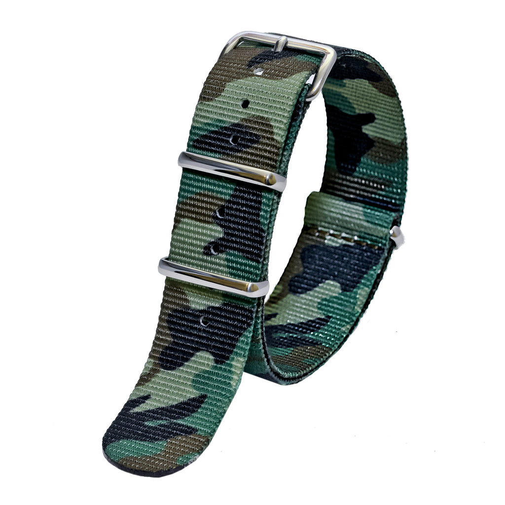 nato watch strap jungle camo sutter & stockton