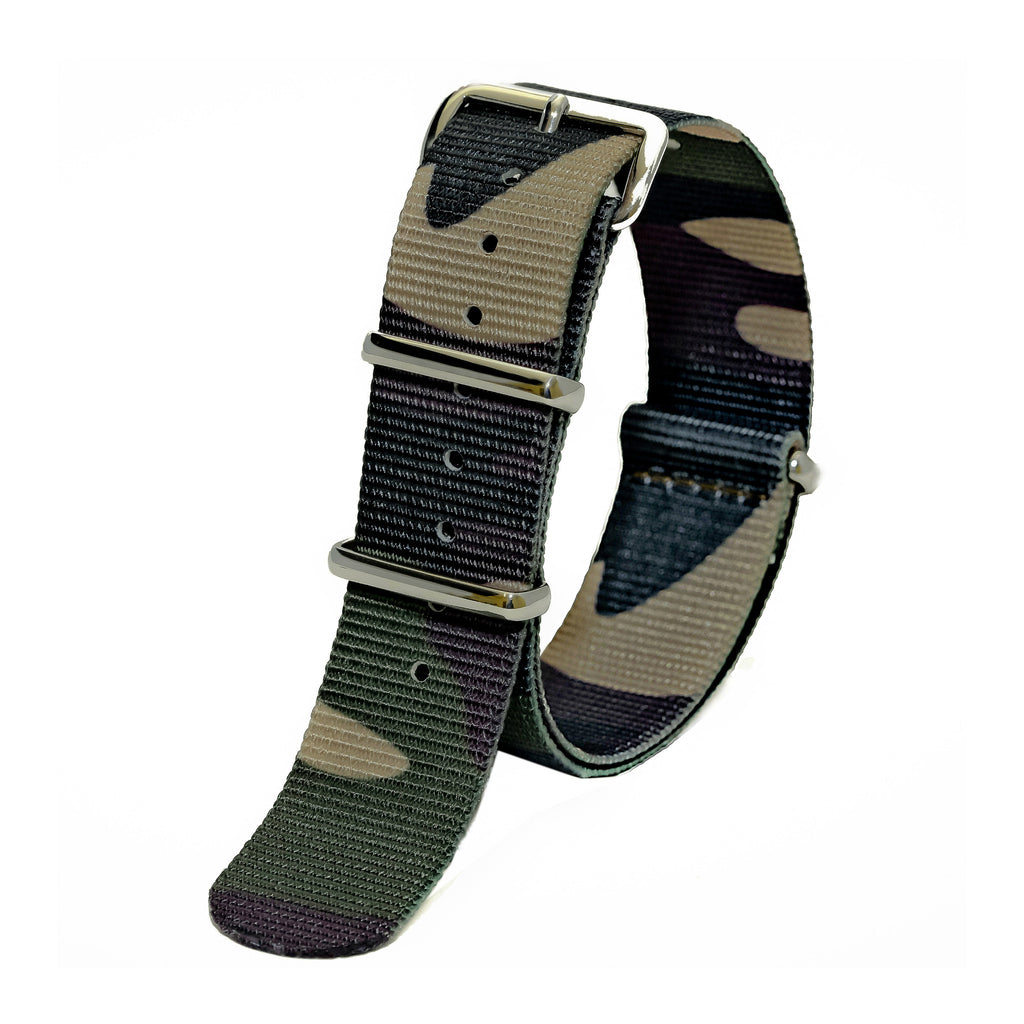 NATO watch strap traditional camo Sutter & Stockton