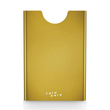 Thin King Aluminum Card Case - Yellow Gold