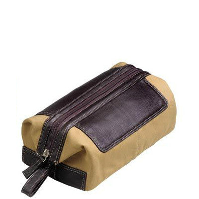 Cotton Canvas Toiletry Kit