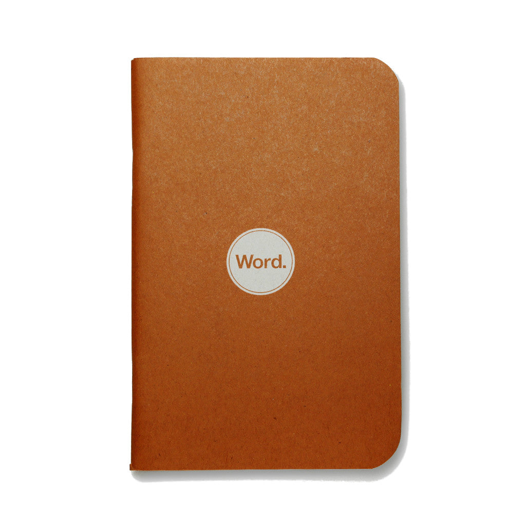 Word Notebooks - Orange - 3-Pack
