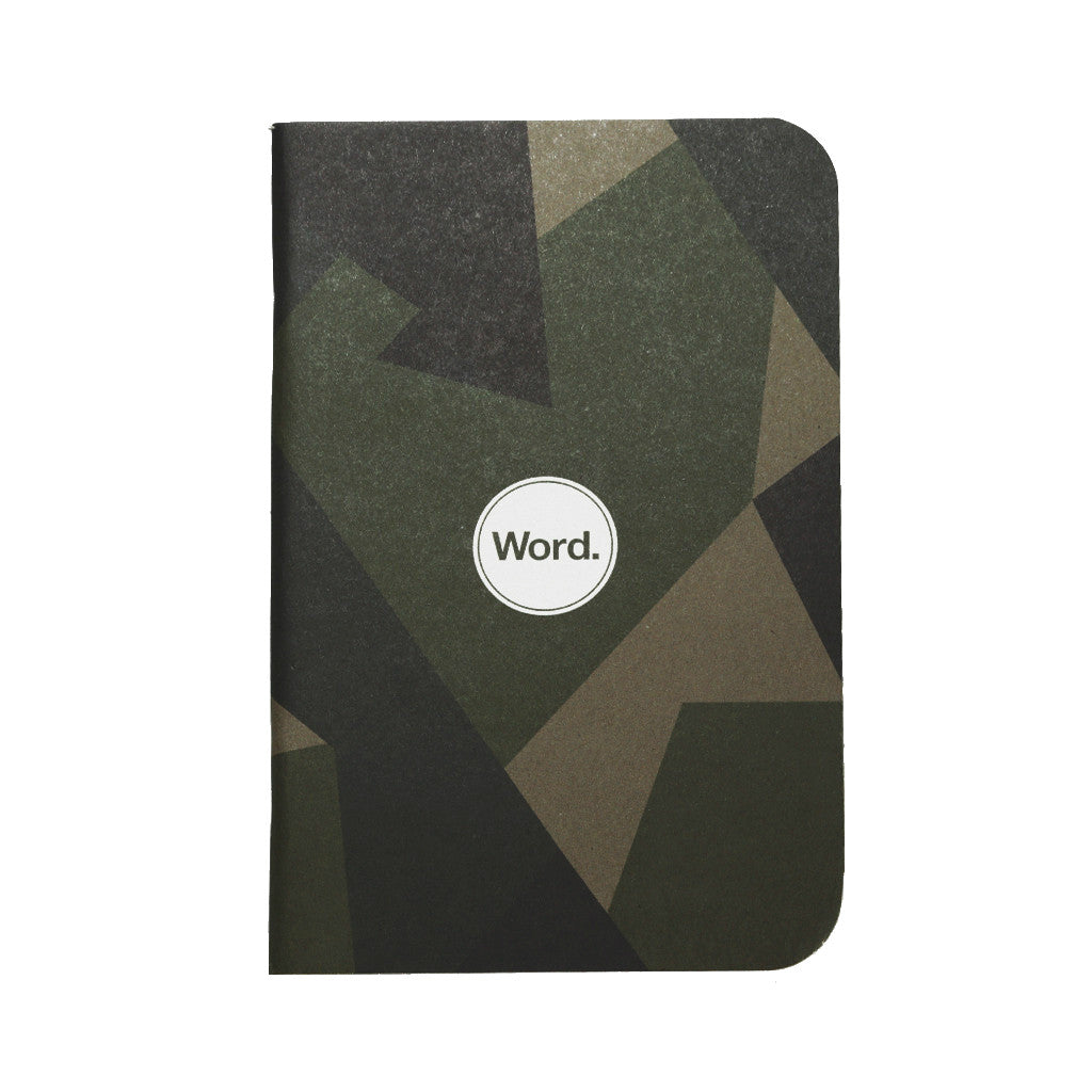 Word Notebooks - Swedish Camo - 3-Pack