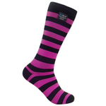 DEXSHELL LIGHT LONG SOCK L / BLACK & PINK STRIPE