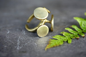 Brass Geometric Ring