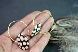 Spotty Batik hoop earrings