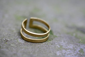 Two Brass Toe Rings