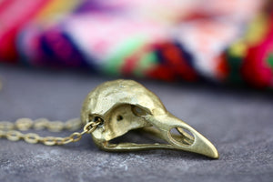 Small Bird Skull Necklace