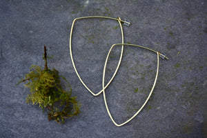 Geometric Minimal Hoop Earrings- Shield