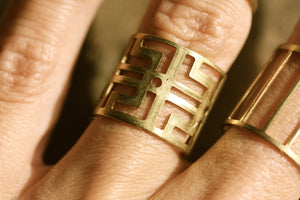 Boho rings - brass