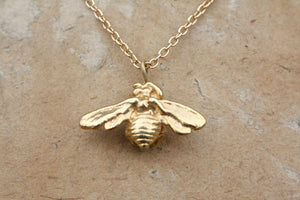 18k Covered Bee Necklace