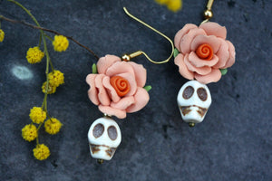 Day of the Dead Earrings - Pink