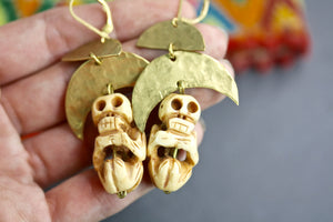 Skull Voodoo Earrings