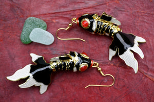 Black Fish Earrings