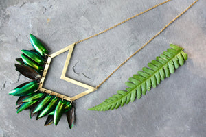 Geometric Beetle Necklace
