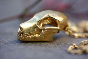 Fruit Bat Skull Necklace
