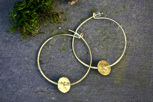 Brass Hoop Delicate Earrings