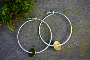 Sterling Silver Hoop Delicate Earrings