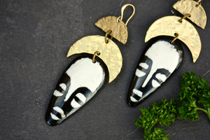 African Mask Earrings