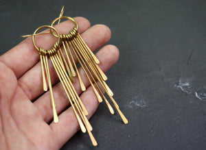 Fringe Brass Earrings