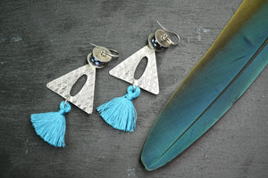 Geometric and Tassel Earrings