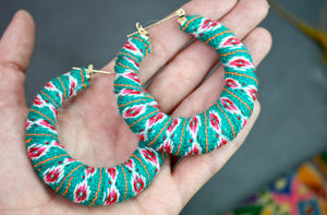 Peruvian Textile Hoops - Turquoise