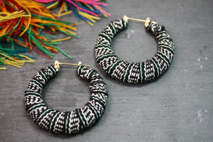 Peruvian Textile Hoops - Black and White