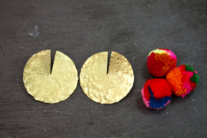 Geometric Brass earrings - Large
