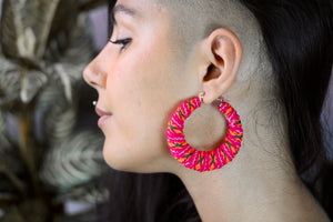 Peruvian Textile Hoops - Pink