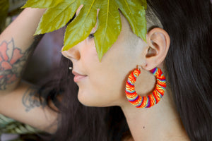 Peruvian Textile Hoops - Rainbow