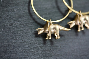 Triceratops Earrings