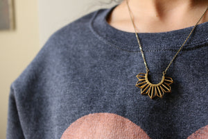 Brass Sun Necklace