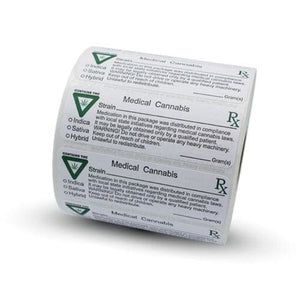 Michigan Medical Label with THC Label - Prescription Labels & State Compliant Labels