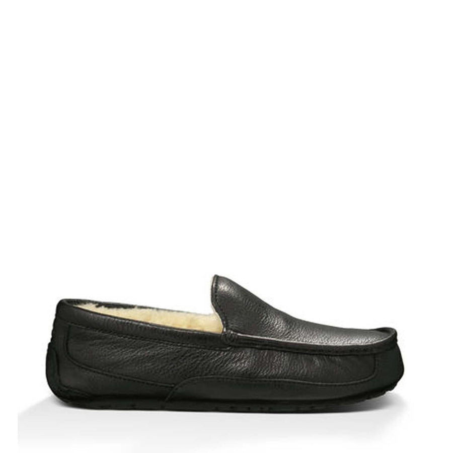 Ascot Slipper - Black Leather